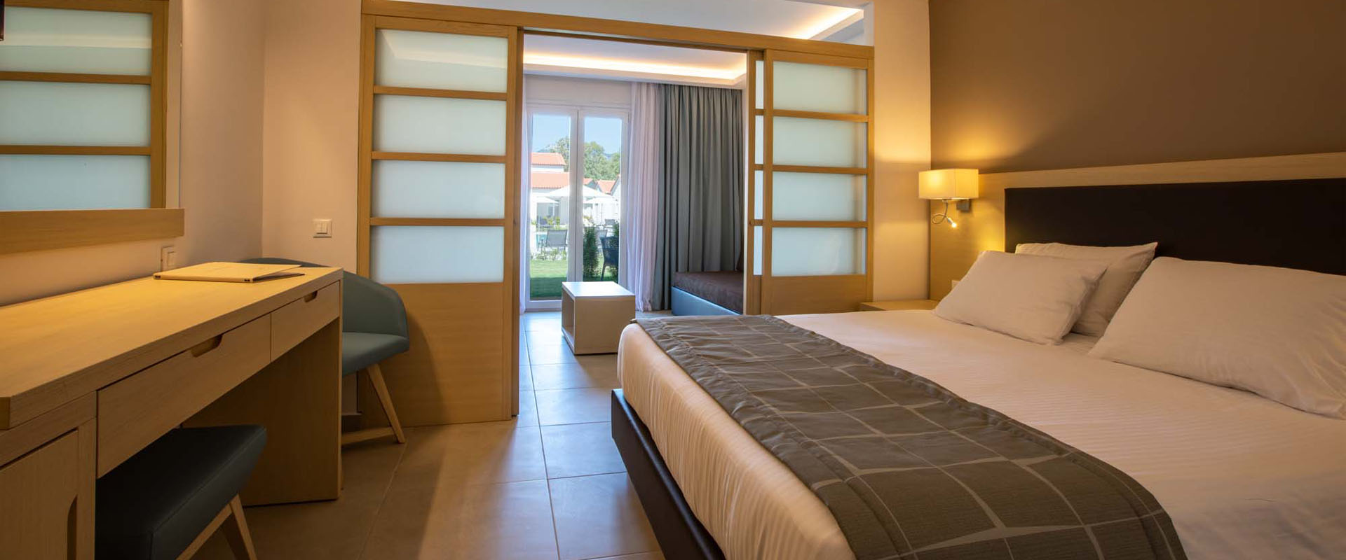 Paleros Beach Resort Luxury Hotel Family Room Slider